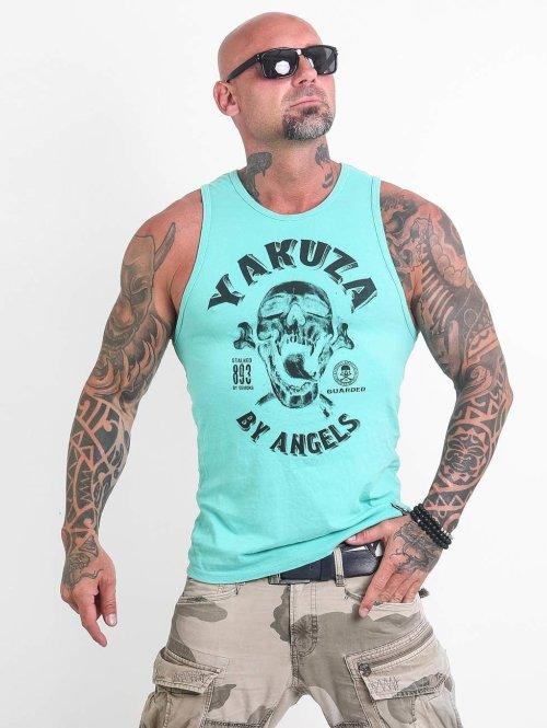 Yakuza Tanktop Screaming Skull turquois