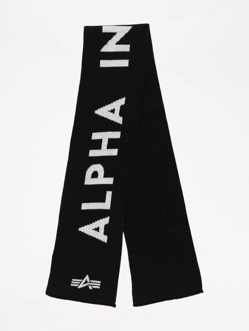 Alpha Industries sjaal Logo zwart