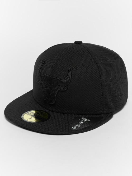 New Era Casquette Fitted Diamond Chicago Bulls 59Fifty noir