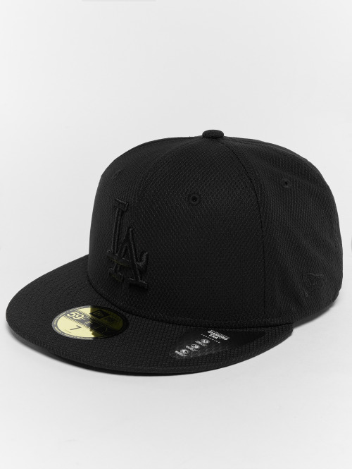 New Era Fitted Cap Diamond LA Dodgers 59Fifty èierna
