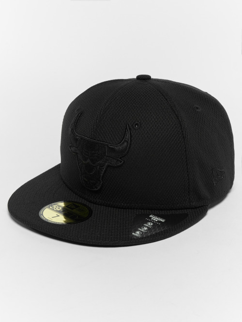 New Era Fitted Cap Diamond Chicago Bulls 59Fifty czarny