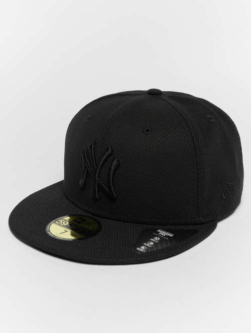 New Era Fitted Cap Diamond NY Yankees 59Fifty schwarz