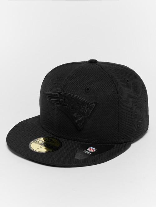 New Era Fitted Cap Diamond New England Patriots 59Fifty schwarz