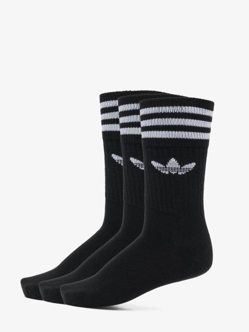 adidas originals Ponožky Solid Crew èierna