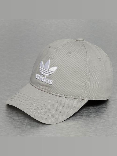 adidas originals Snapback Trefoil šedá