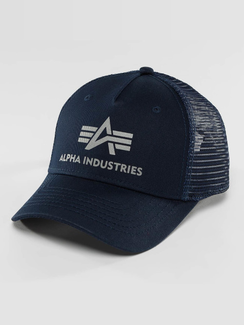 Alpha Industries Кепка тракер Basic синий