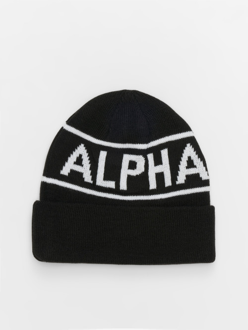 Alpha Industries Beanie Block schwarz
