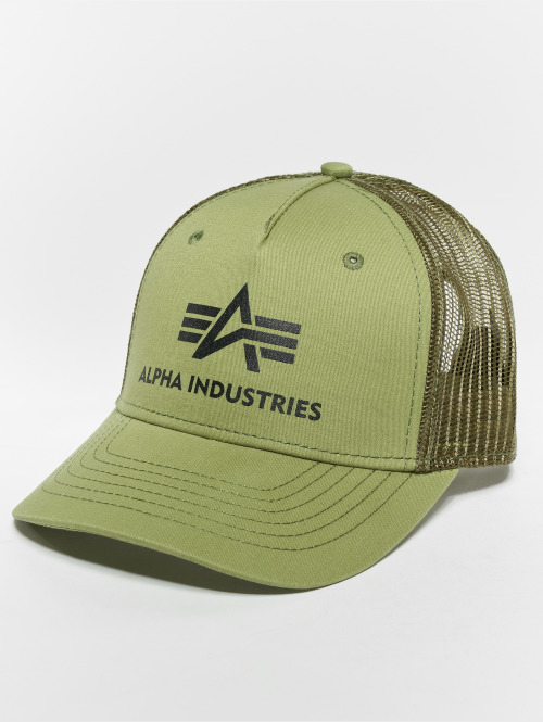 Alpha Industries trucker cap Basic olijfgroen