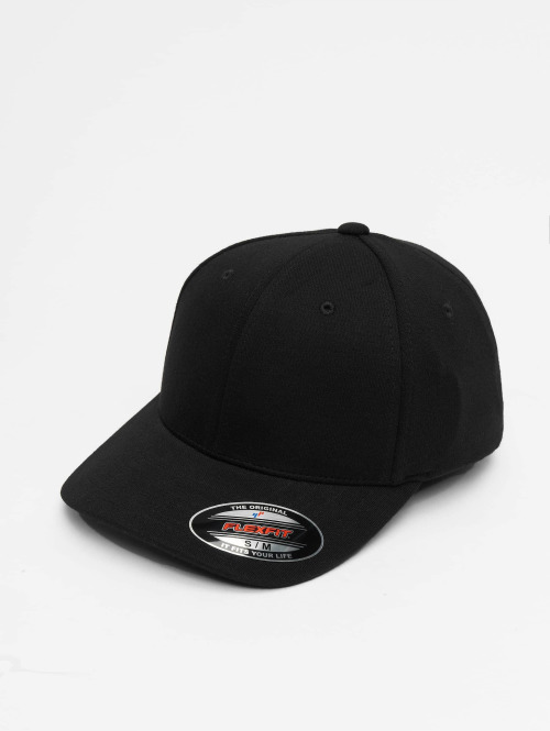 Flexfit Flexfitted Cap Double Jersey èierna