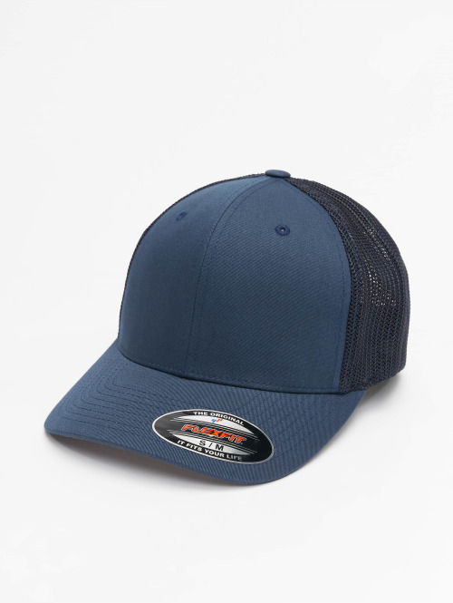 Flexfit Flexfitted Cap Mesh Cotton Twill blauw