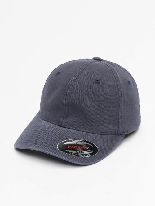 Flexfit Flexfitted Cap Garment Washed Cotton Dat blauw