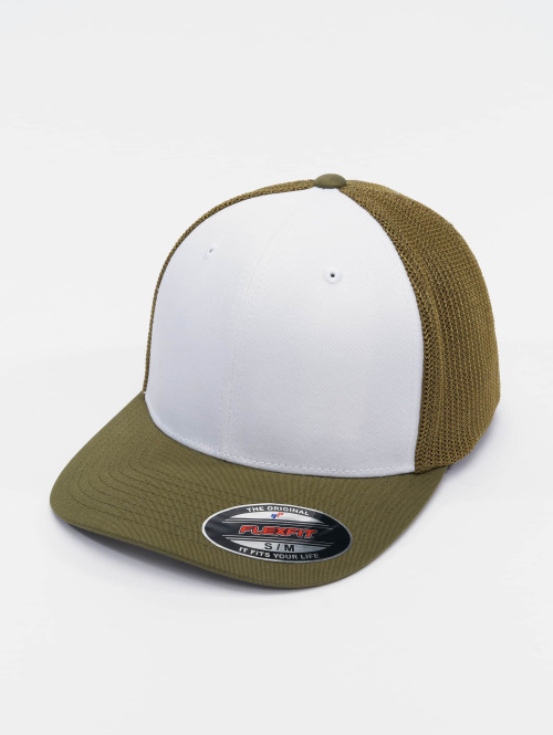 Flexfit Flexfitted Cap Mesh Colored Front olijfgroen