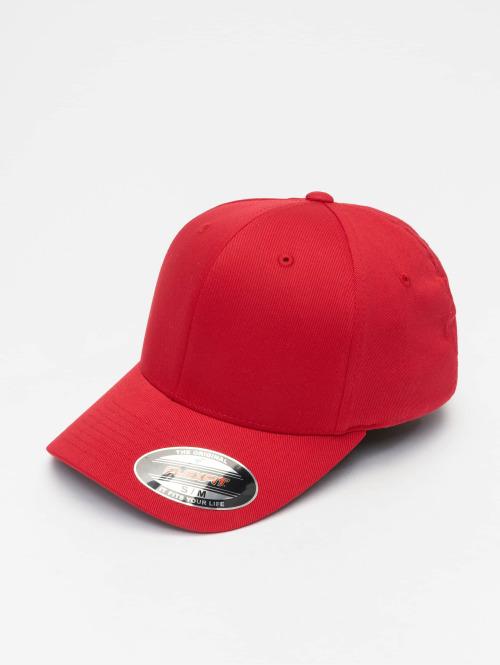 Flexfit Flexfitted-lippikset Wooly Combed punainen