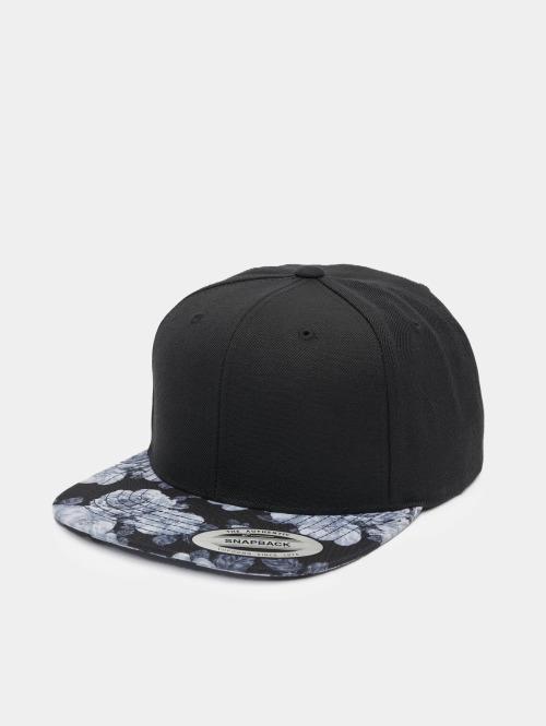 Flexfit snapback cap Roses zwart