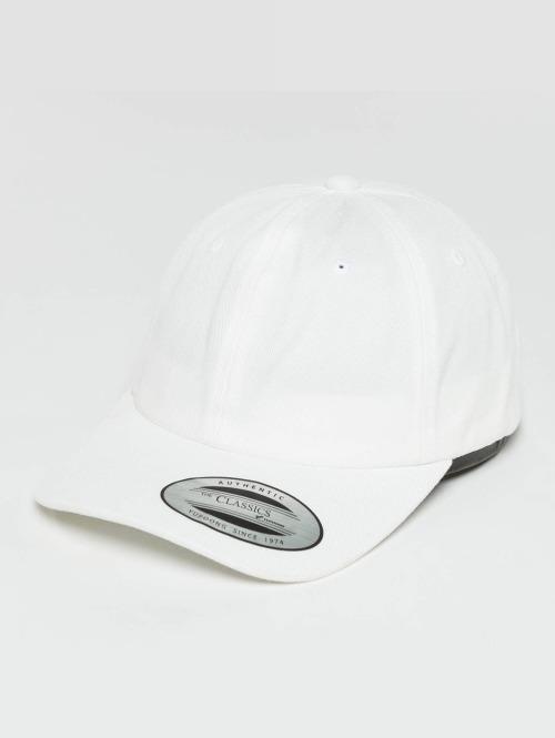 Flexfit Snapback Caps Low Profile Cotton Twill Kids valkoinen