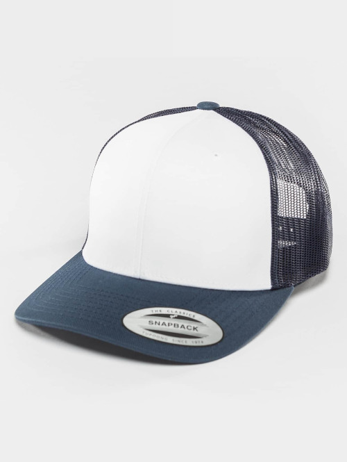 Flexfit Trucker Cap Retro Colored Front blau