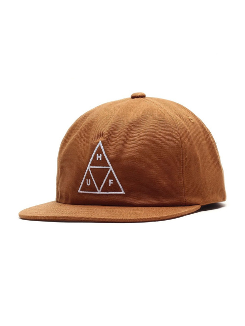 HUF Fitted Cap Triple Triangle braun