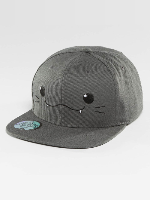Just Rhyse Snapback Cap Kawaii Cat grau