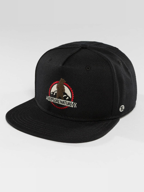 Just Rhyse Snapback Caps Mentasta Lake Starter musta