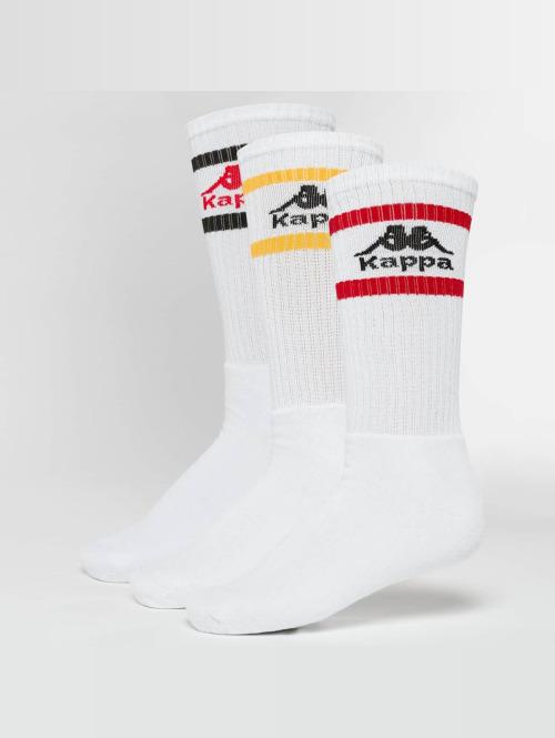 Kappa Sokker Taxa 3 Pack hvit