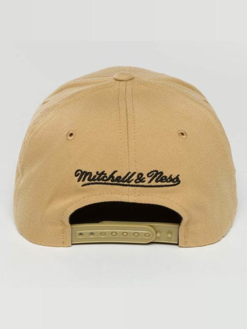 Mitchell & Ness Snapback Cap The Sand And Black 2-Tone Interlocked beige