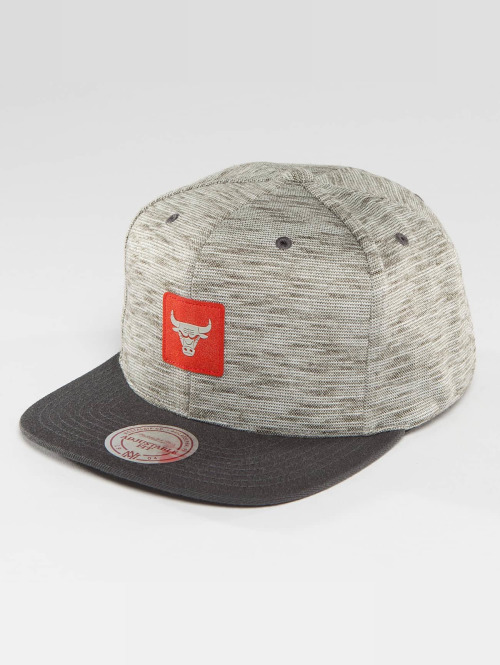 Mitchell & Ness Snapback Cap NBA Brushed Melange Chicago Bulls grau