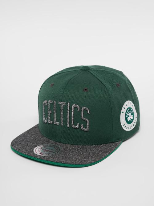 Mitchell & Ness Snapback Cap HWC Bosten Celtics Melange Patch grün