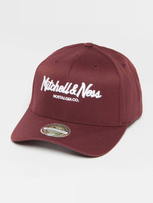 Mitchell & Ness Snapback Cap Own Brand Pinscript High Crown 110 rot