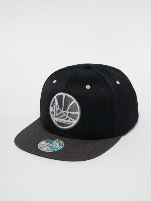 Mitchell & Ness snapback cap NBA Golden State Warriors Logo 110 Flat zwart