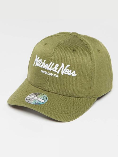 Mitchell & Ness Snapback Caps Own Brand Pinscript High Crown 110 oliivi