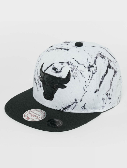 Mitchell & Ness Snapback Caps White And Black Marble Chicago Bulls valkoinen