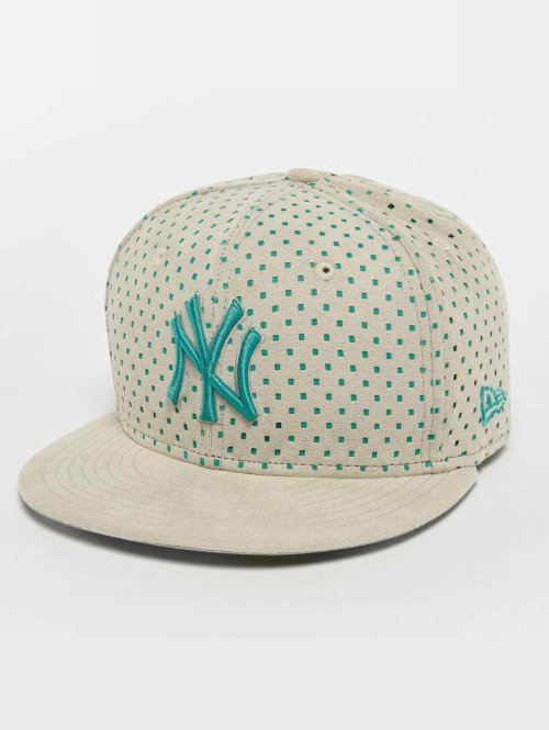 New Era Fitted Cap Suede Perf NY Yankees 59Fifty grigio