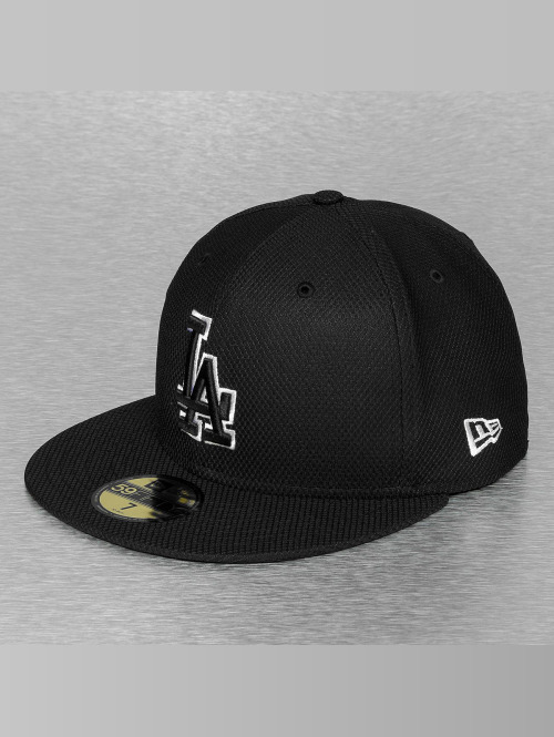 New Era Fitted Cap Tonal Diamond Era LA Dodgers schwarz