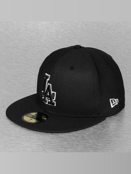 New Era Fitted Cap Tonal Diamond Era LA Dodgers zwart