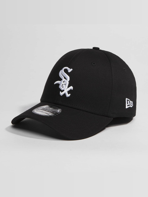 New Era Flexfitted Cap Washed Team Colour Chicago White Sox zwart