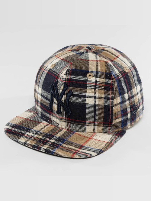 New Era snapback cap Spring Plaid NY Yankees 9Fifty bruin