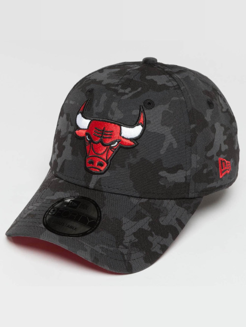 New Era Snapback Cap Camo Team Chicago Bulls 9Forty grau