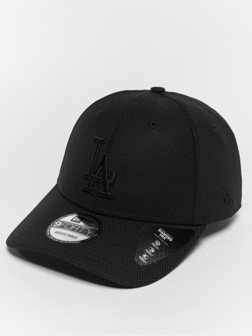 New Era Snapback Cap Diamond LA Dodgers 9Forty schwarz