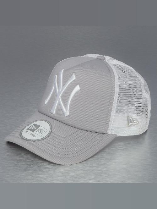 New Era Trucker Cap Clean NY Yankees grau