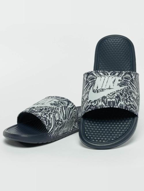 Nike Claquettes & Sandales Benassi Just Do It Print Slide bleu