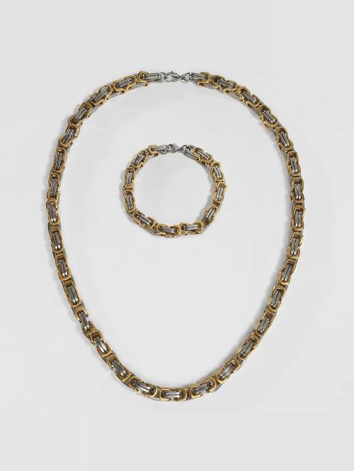 Paris Jewelry Kette Bracelet 22cm and Necklace 60cm silberfarben