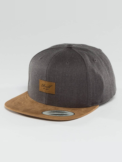Reell Jeans Casquette Snapback & Strapback Suede 6 Panel gris