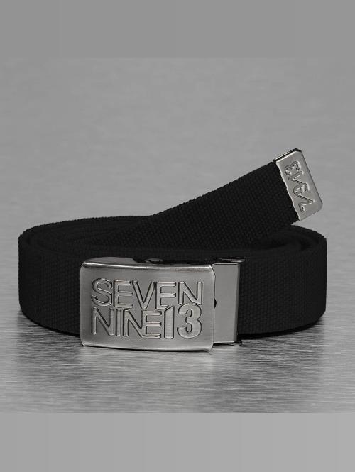 Seven Nine 13 Vyöt Jaws Stretch musta