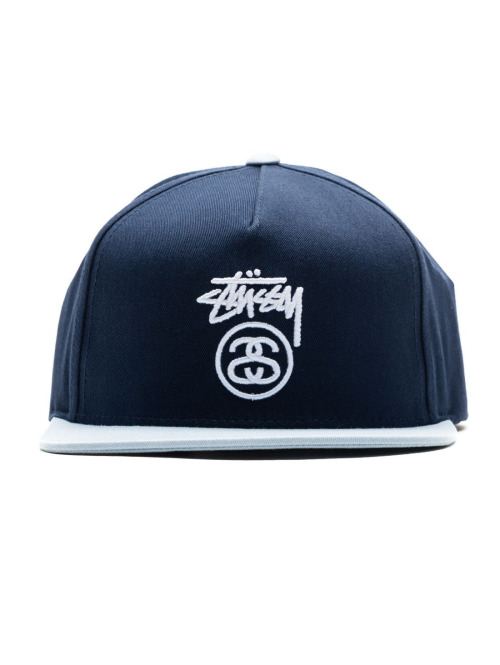 Stüssy 5 Panel Caps Stock Lock blau