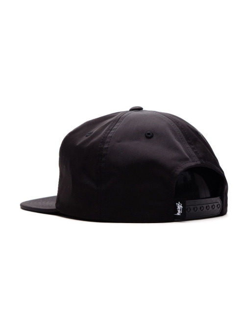 Stüssy Fitted Cap Stock Poly schwarz