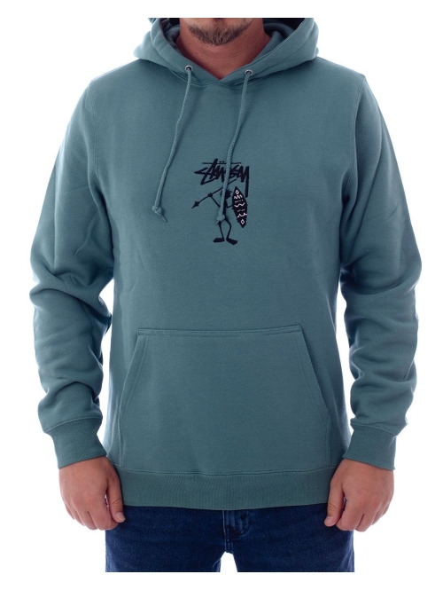 Stüssy Hoody Tribe Man Applique grün