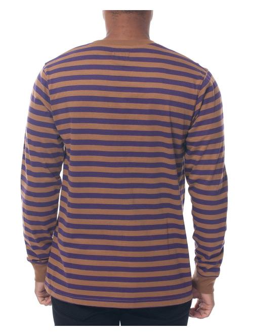 Stüssy Longsleeve Classic Stripe braun
