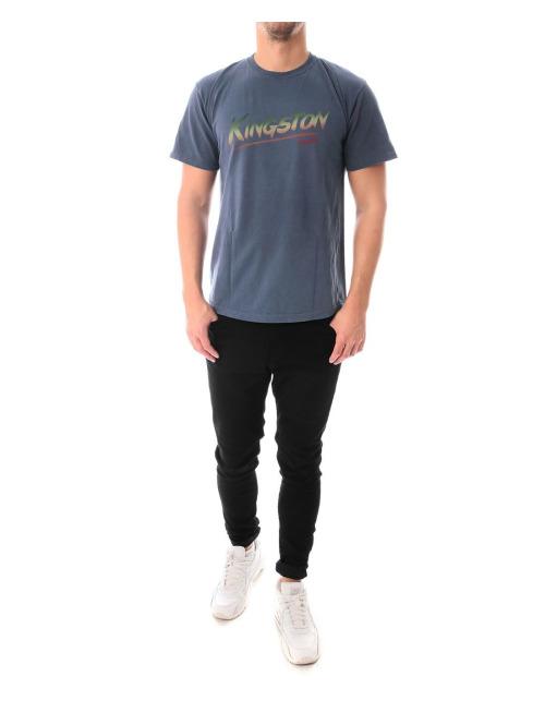 Stüssy T-Shirt Kingston Pigment Dyed blau