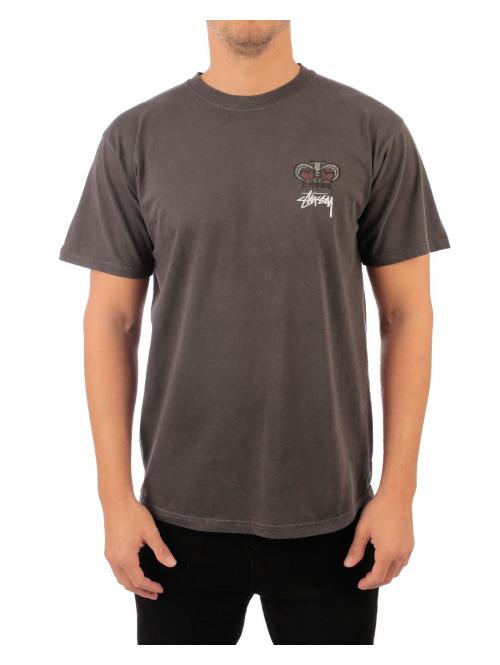 Stüssy T-Shirt Babylon on Fire Pig. Dyed grau