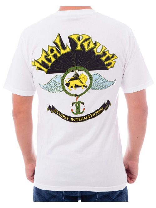 Stüssy T-Shirt Ital Youth weiß
